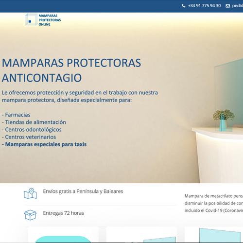 Mámparas protectoras online